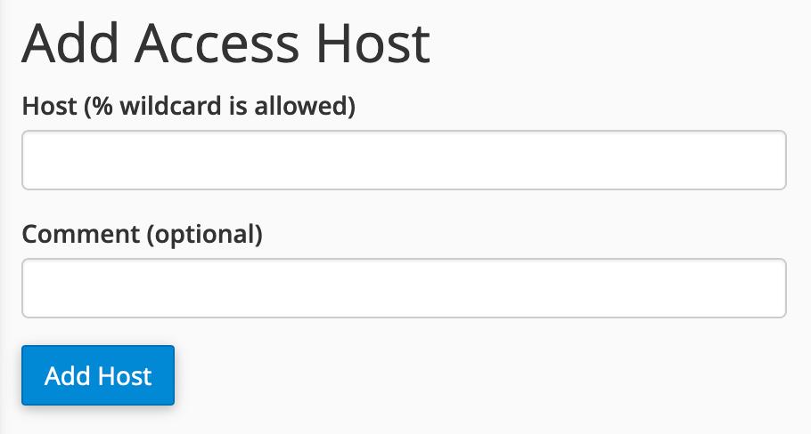 Add access host