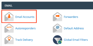 Icon to reach Email Accounts