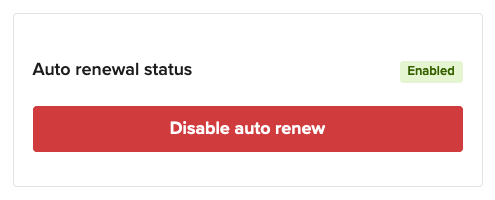 Disable auto renew to cancel the domain