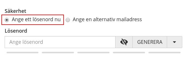 Ange lösenord för mailkonto