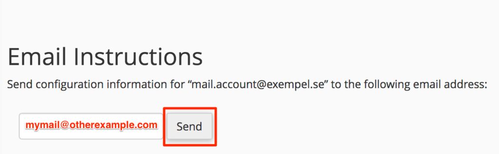 Email instructions to