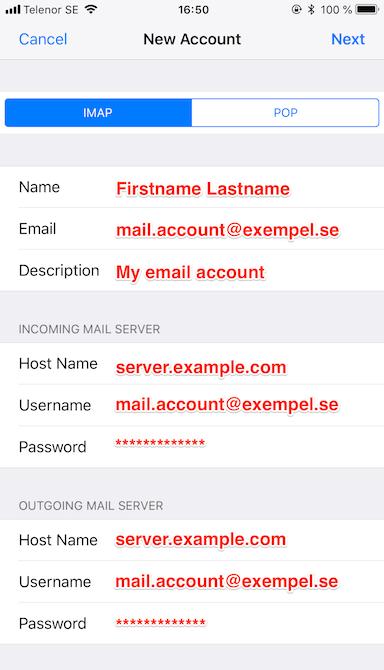 All account settings