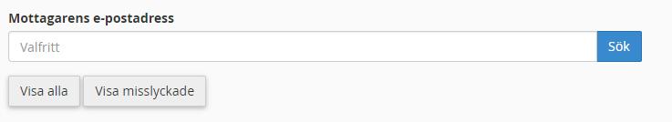 Mottagarens e-postadress