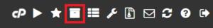 Du kan se vilka programvaror som i nuläget hanteras av Softaculous genom att trycka på knappen som ser ut som en flyttlåda, i menylisten längst upp