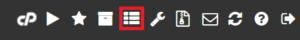 Du kan se uppgifter som Softaculous jobbar med genom att klicka på knappen som ser ut som tre grova horisontella streck, i menylisten längst upp