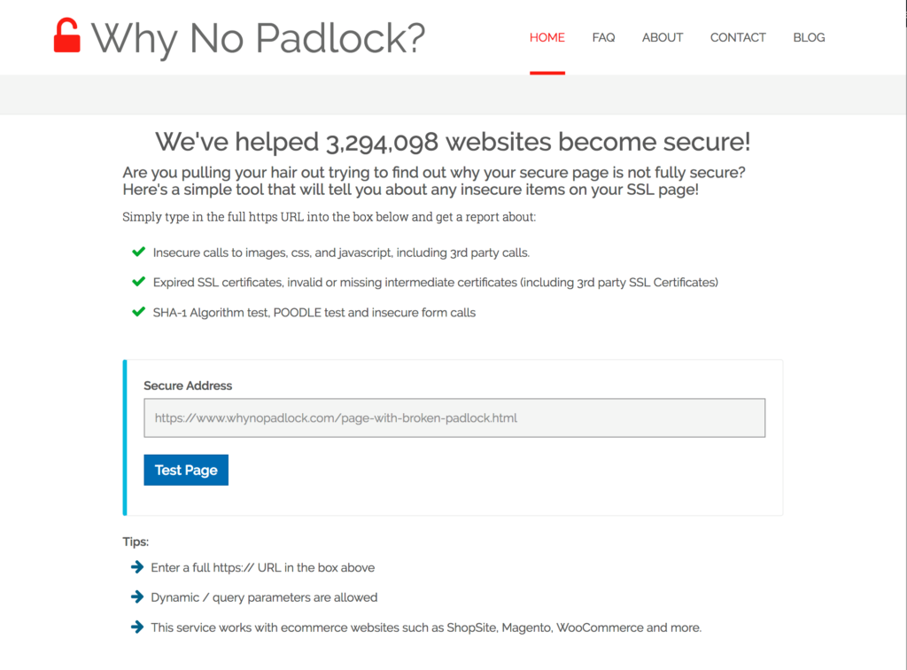 Why No Padlock