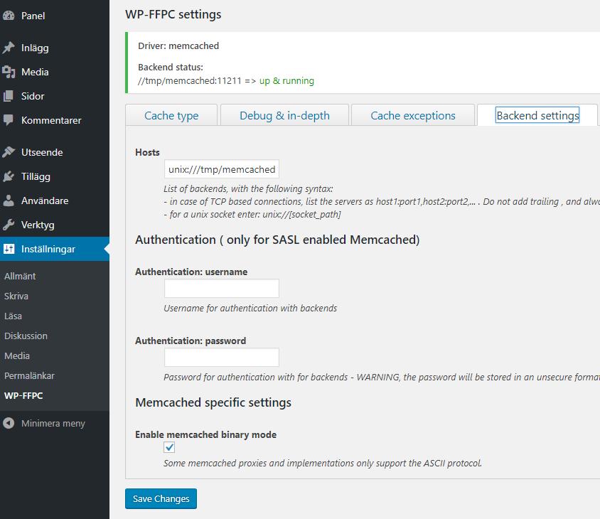 wp-ffpc-memcached-backend-socket-settings