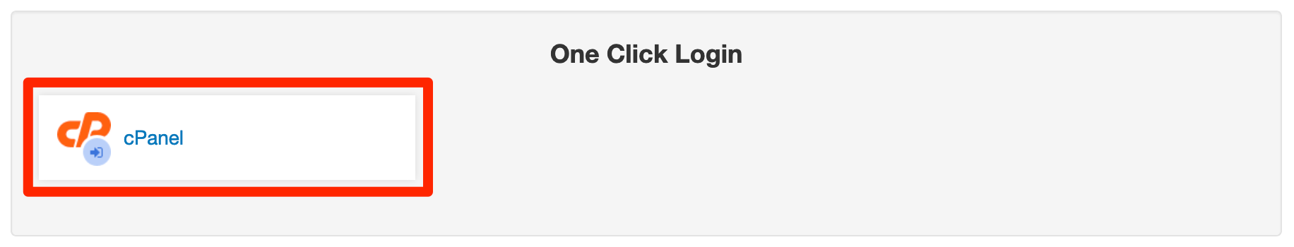 One-click login to cPanel