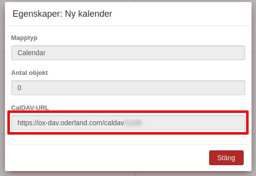 Open-Xchange CalDAV-URL
