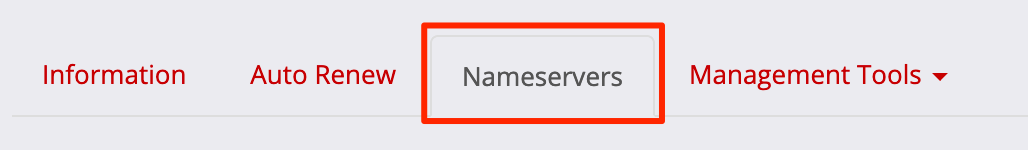 Choose Nameservers