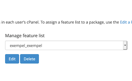 Redigera en lista via Edit-knappen