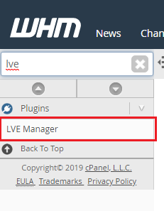 Klicka på LVE Manager