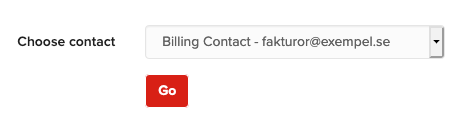 Choose your billing contact