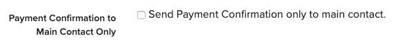 Checkbox for payment confirmation emails