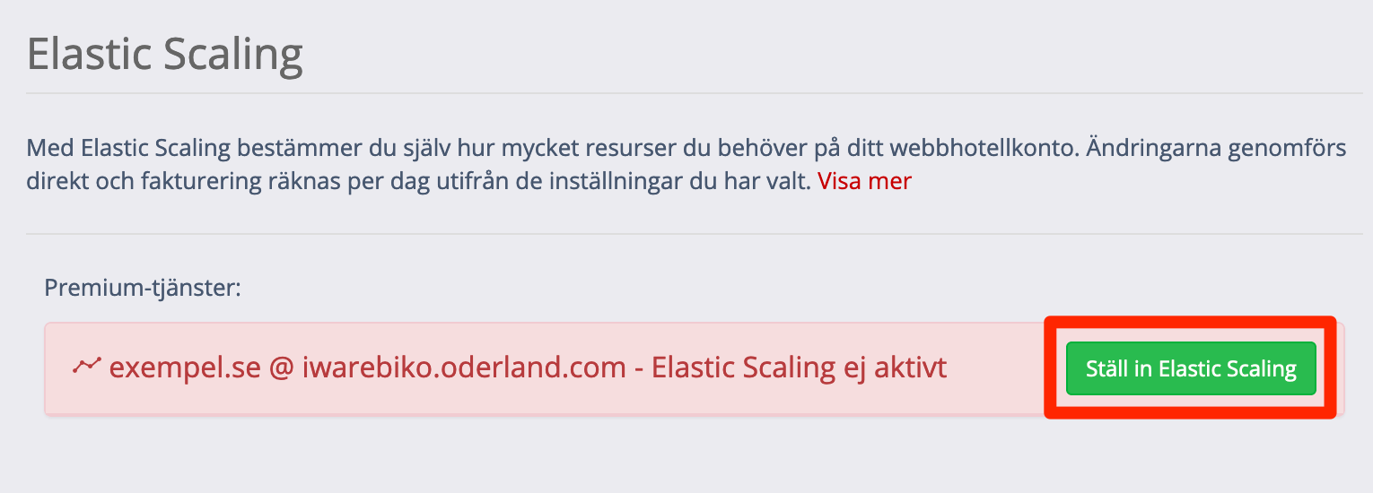 Ställ in Elastic Scaling