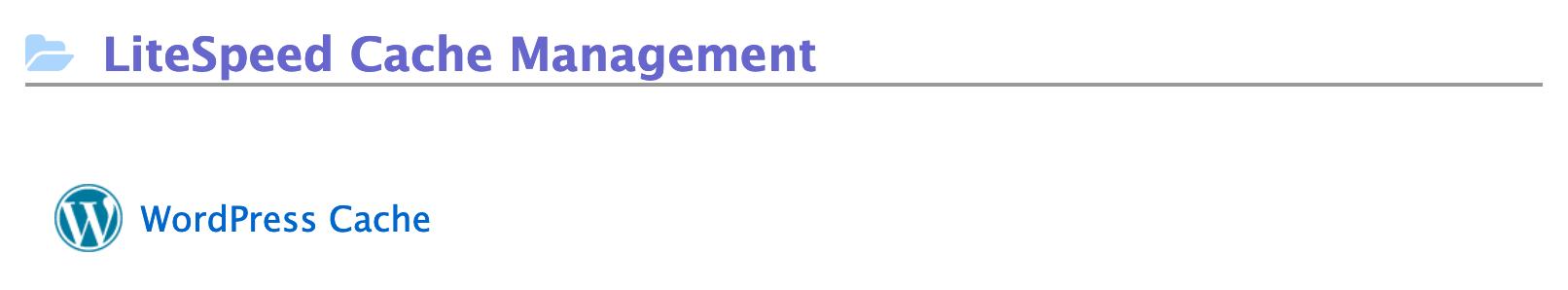litespeed cache management