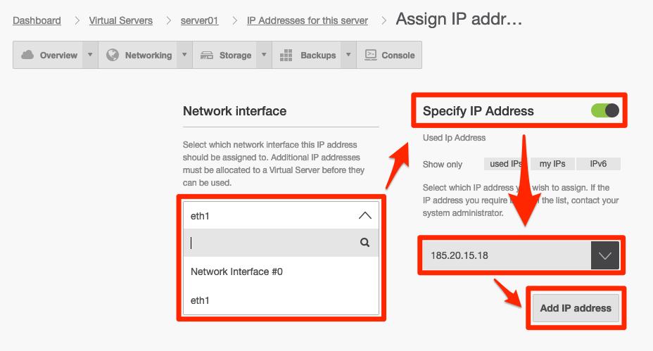 Val för ny IP-adress