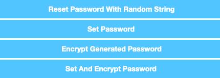 Knappar för att bekräfta nytt lösenord