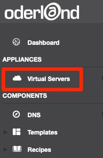Klicka på Virtual Servers i menyn