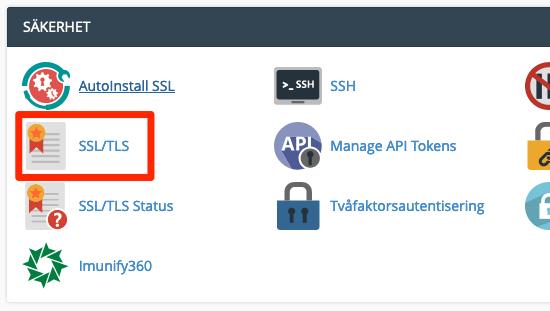 Ikonen SSL/TLS